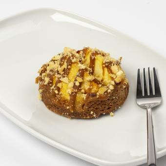 appel caramel zeezout met crumble en biscuitbodem