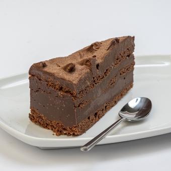 taartpunt brownie met triple ganache