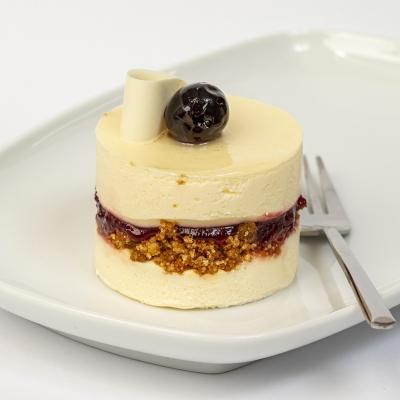 bavarois dessert mascarpone kersen