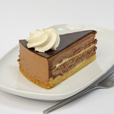 taartpunt chocolade