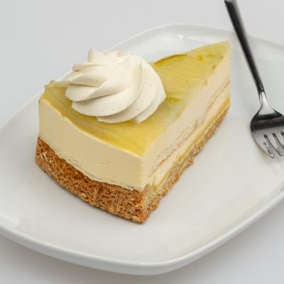 taartpunt citroen limoen, een gebakken bodem van sloffendeeg en mascarpone